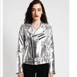 Tripp NYC Metallic Moto Jacket size L NWT